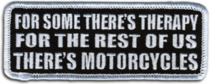 Funny Tab Patches Embroidered Motorcycle Slogan Patches