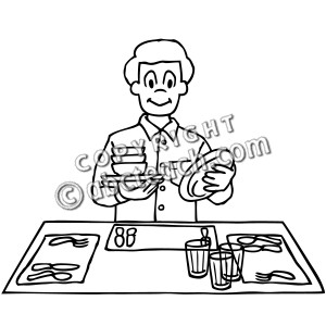 preschool setting table clip art