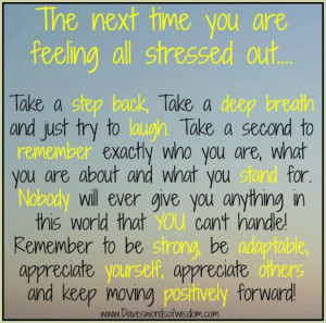 Dealing with stress!!