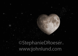 Pictured is the ultimate romantic moon, a heart-shaped full moon ...