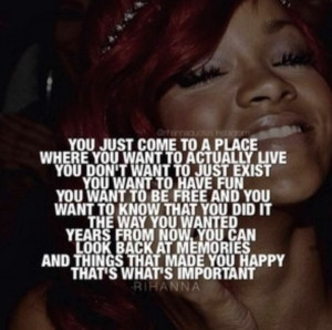 Rihanna Quotes About Love I love this quote,