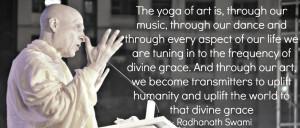 Radhanath Swami on the yoga of art