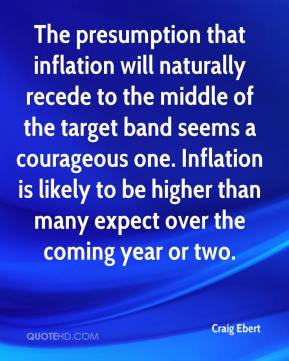 Craig Ebert - The presumption that inflation will naturally recede to ...