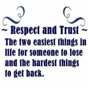 Respect & Trust