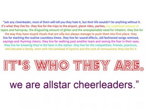 all star cheerleading quotes tumblr