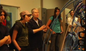 Jill Tarter with REI students at the Hat Creek Radio Observatory