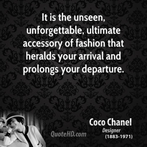 Coco Chanel Quotes About Accessories