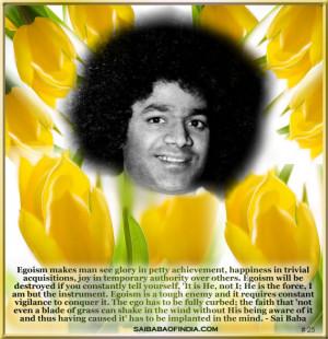 Sri Sathya Sai Baba Quotes For