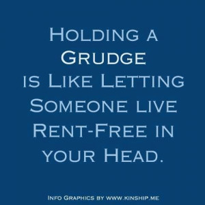 So very true. Don't hold a grudge. You will worry less about what ...