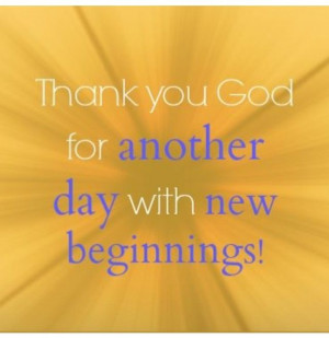 New Beginnings.....