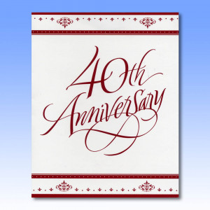 Perfect for celebrating a 40th Anniversary this elegant invitation is ...