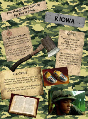 Kiowa The Things They Carried Quotes Kiowa - hunting hatchet