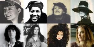 Top row: Dorothy Parker, Zora NealeHurston, Shirley Jackson, Gael ...