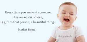 Smile - mother teresa quote