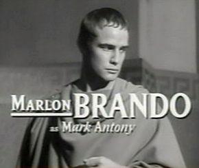 Description de l'image Marlon Brando in Julius Caesar trailer.jpg.