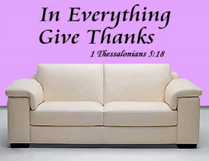 In Everything Give Thanks Wall Decal Bible Quote