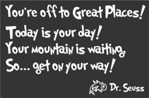 Youre Off to Great Places Today Is Your Day Dr Seuss Quote Wall Vinyl ...