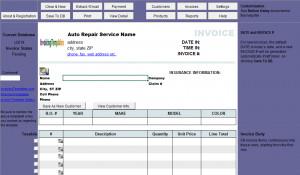 Auto Repair Invoice Template (Uniform Invoice Software V3 edition)