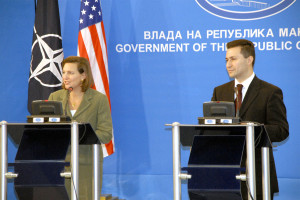 Amb Victoria Nuland at the Press Conf with Prime Minister Nikola