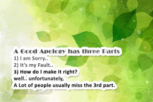 am Sorry Its My Fault