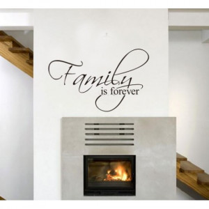 Families is Forever Wall Quote Decal