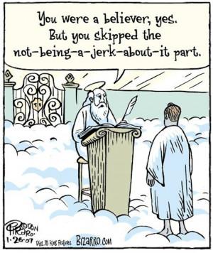 Hey Christian: Don't be a jerk!