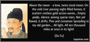 . On the cold river passing night-filled homes, It scatters restless ...