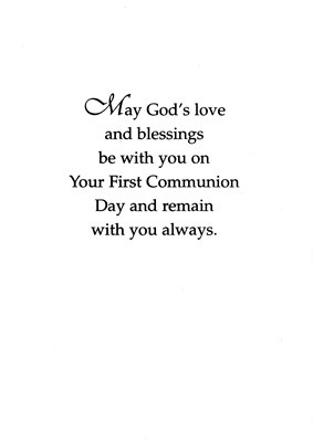 First Holy Communion Card Verses