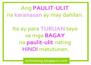 Tagalog Quotes Patama Sa Ex Sa mga bagay na paulit ulit