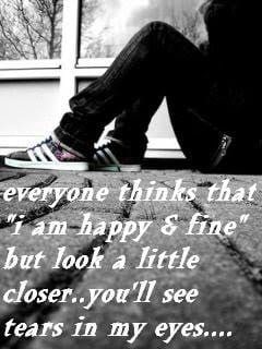 """... Look A Little Closer. You'll See Tears In My Eyes """" ~ Sad Quote"""