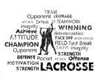 Lacrosse Text by Veruca Salt art print