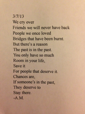 we cry over friends we will never have back people we once loved ...