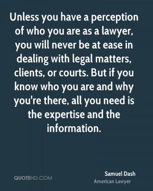 Samuel Dash Legal Quotes