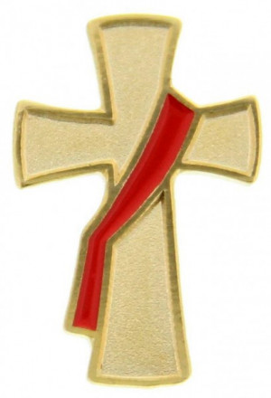Deacon Cross Lapel Pin - Gold Tone