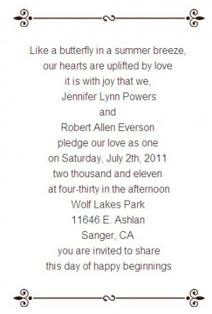 Funny Wedding Invitation Wording For Friends From Bride And Groom #1