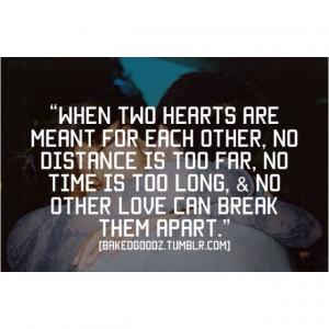 Nothing will ever break us apart