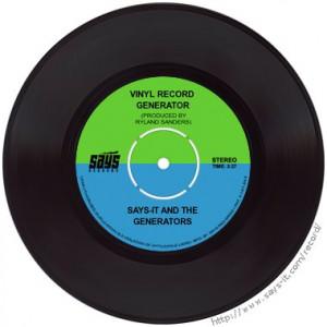 Vinyl Record Generator
