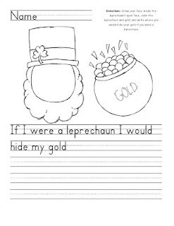 ... Prompt: 'If I were a leprechaun I would hide my gold….' Freebie