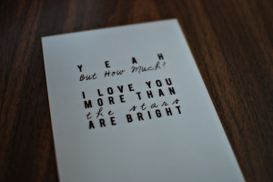 Text Print 11x14 - How Much do you love me - Thumbnail 2