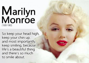 Famous Life Quotes by Marilyn Monroe - Life is a beautiful thing and ...