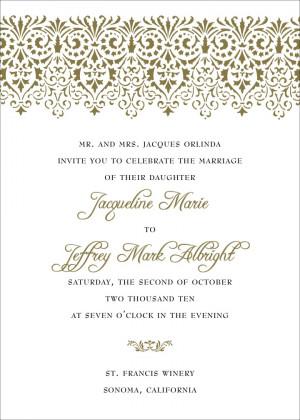 ... wedding invitation set one of the most elegant wedding invitations