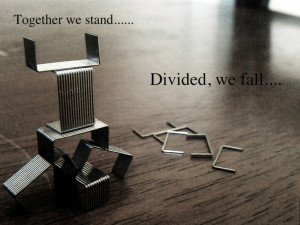 Together we stand, Divided we fall by Arham Omar pink floyd wall quote ...