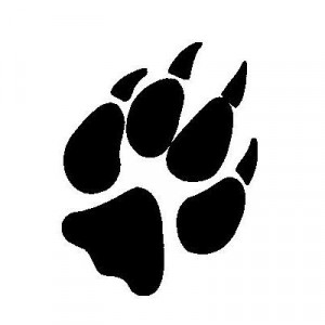 Cute Paw Prints Sticker