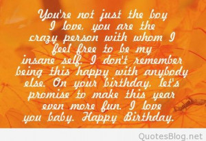 Free Quotes Pics on: Happy Birthday Quotes For Him