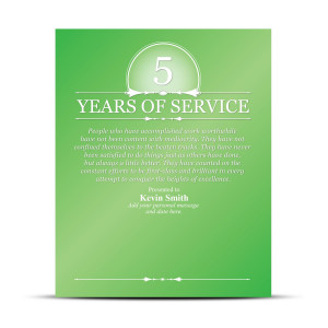 Years of Service Vivid Award Plaque
