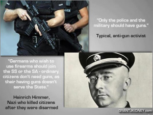"""... Police and the Military Should Have Guns"""", Typical Anti-gun Activist"""