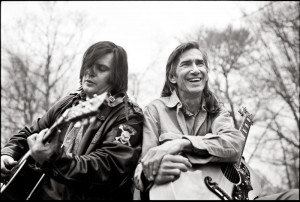 Steve Earle, left, and Townes Van Zandt, who mentored Earle after the ...