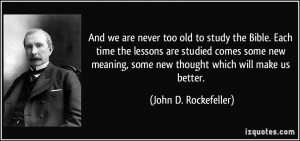 And we are never too old to study the Bible. Each time the lessons are ...