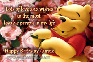 Happy Birthday Wishes Aunt
