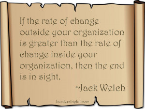 Jack Welch quote on change